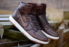 Nike Dunk Lux High Men's Size 11 Burnished SP Classic Brown Nikelab UK10 #Nike #DunkLux