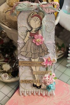 Just Paper and Bling: I Received my Prima Doll Tags From My Swap! Paper Doll Craft, Prima Paper Dolls, Prima Doll Stamps, Doll Crafts, Paper Crafts, Atc Cards, Card Tags, Journal Cards, Gift Tags