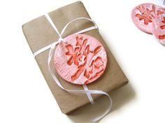 Chinese Double Happiness Clay Tags - Gift Topper
