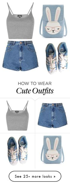 """Cute outfit"" by liza-ionova on Polyvore featuring adidas, Topshop and Glamorous"