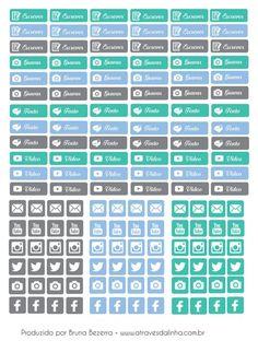 Página 1 Blog Planner, Calendar Stickers, Planner Stickers, Printable Planner, Printables, Create 365, 1, Filofax, Planners