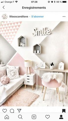 45 stylish & chic kids bedroom decorating ideas for girl and boys 10 Girls Bedroom Ideas Bedroom Boys Chic decorating Girl Ideas Kids Stylish Baby Room Design, Girl Bedroom Designs, Bedroom Styles, Design Bedroom, Cute Room Decor, Baby Room Decor, Bedroom Decor For Boys, Teen Bedroom Colors, Room Baby
