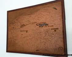 Lake Dillon, Scale Map, Unique Gifts, Best Gifts, Third Anniversary, County Map, Custom Map, Leather Craft, The Fosters