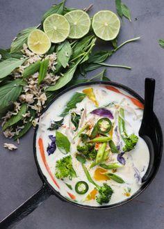 Green thai curry , vegan