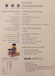 Leichte Salatdressings Yogurt, Food Portions, Essen