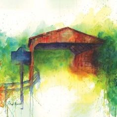 This is an original structure still standing in Coral Springs Florida. Watercolor painting, measures x Coral Springs Florida, Landscape Paintings, Watercolor Paintings, Cool Art, Awesome Art, Covered Bridges, Scenery, Water Colors, The Originals