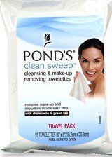 Pond's Clean Sweep Chamomile Cleansing Make-up Removing Towelettes,15 ct [TWO PACK - 30 wipes] ** This is an Amazon Affiliate link. Click on the image for additional details.