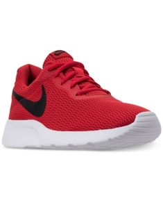 detailed look e24e5 c3848 Nike Men s Tanjun Casual Sneakers from Finish Line - Red 11.5 Sneakers  Casuales, Zapatos Deportivos