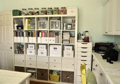 Craft Room Shelving courtesy of Reginae via Scrapbook.com