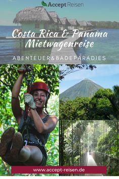 Ihr braucht Reisetipps für eure Costa Rica und Panama Rundreise? Die 3-wöchige  Mietwagenreise an San José vereint die beiden Küstenregionen Costa Ricas und legt noch eine Schippe mit dem traumhaften Badeurlaub auf Bocas del Toro drauf. Selbstverständlich könnt ihr auch mit euren Kindern verreisen oder die Reise als Honeymoon buchen, denn der Nebelwald Monteverde, die Region um den Vulkan Arenal und La Fortuna versprechen ein abwechslungsreiches Abenteuer. Rafting, Costa Rica Reisen, Holiday Destinations, Travel Destinations, Panama, Monteverde, Travel Companies, Group Travel, Travel Around The World