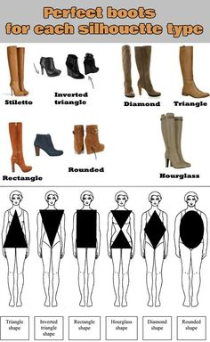 Perfect boots for each silhouette type