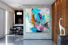 Items similar to Large Modern Wall Art Painting,Large Abstract wall art,texture art painting,colorful abstract,office wall art on Etsy Large Abstract Wall Art, Large Canvas Art, Canvas Wall Art, Gold Canvas, Canvas Canvas, Acrylic Canvas, Bright Paintings, Unique Paintings, Abstract Paintings