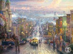 """""""The Heart of San Francisco"""" by Thomas Kinkade"""