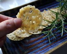 Asiago-rosemary crisps, and easy microwave cheese crisps