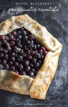 Get the recipe for this easy blueberry rustic crostata (or galette) made from Maine blueberries. This tart is like making a pie, but way easier! #blueberries #blueberryrecipe #dessert