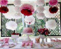 TUDO PRA SUA FESTA: Festa infantil para meninas detalhes da mesa do bolo