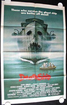"DEATH SHIP (1980) Original Movie Poster 27x41"" George Kennedy - #BMovie #Horror"