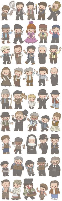 Tiny Newsies by ~misshitsuneurose on deviantART  Oh my goodness, this is adorable!! I just want to hug them all!