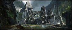 Landscape Art: Entrance to Atlantis - 2D Digital, Illustrations, Scenery/LandscapesCoolvibe – Digital Art
