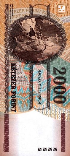 Banknote, Hungary, Old Money, Golden Roses, Coins, Art