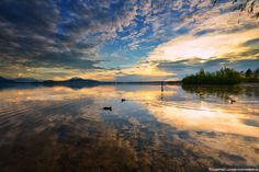 Last light at Zurichsee by Martyn Wilkes