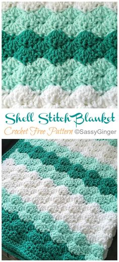 Crochet blanket patterns free 276408495867221491 - Easy Shell Stitch Blanket Crochet Free Pattern [Video] – Crochet & Knitting Source by howtomakes Crochet Afghans, Crochet Shell Blanket, Baby Afghan Crochet Patterns, Crochet Baby Blanket Free Pattern, Crochet Shell Stitch, Free Crochet Afghan Patterns, Crochet Shell Pattern, Crochet Stitches For Blankets, Crocheting Patterns