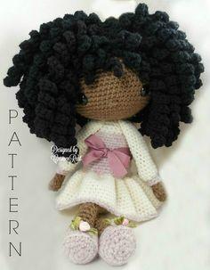 Michelle++Amigurumi+Doll+Crochet+Pattern+por+CarmenRent+en+Etsy