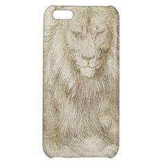 two seated #lions by albrecht #durer #art #case #iphone 5c #iphone5c #drawing #lion #silverpoint