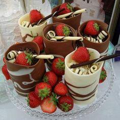 Chocolate cups <3  Like us on Facebook https://www.facebook.com/mmmmmmyummy?fref=ts