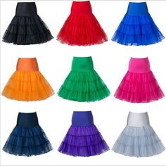 Short Vintage Bridal Tutu Ballet Skirt Petticoat Crinoline Underskirt Slip Jupon #HalfSlip