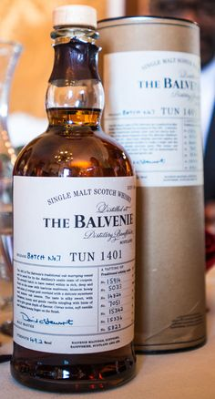 The Balvenie Tun 1401 Batch Whiskey Brands, Cigars And Whiskey, Scotch Whiskey, Bourbon Liquor, Whiskey Girl, Bourbon Drinks, Alcohol Bottles, Liquor Bottles, Liquor Drinks