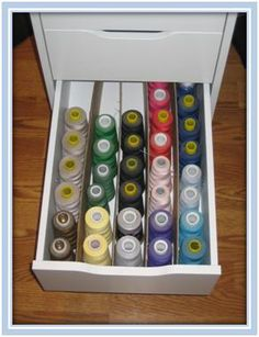 thread organizing in Alex drawers from Ikea