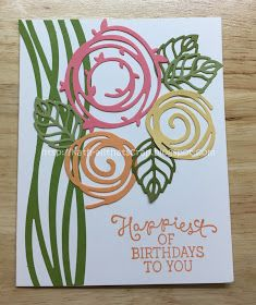 It's the 5th Wednesday of the month and that means anything goes! So link what you are finishing up.     I just finished this card for...