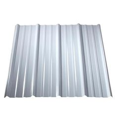 Metal Sales Classic Rib x Ribbed Metal Roof Panel at Lowe's. Built for beauty, durability and value, the Metal Sales classic rib is a hard-working roof panel that performs in all seasons. Ideal for a variety of Corrugated Metal Roof Panels, Steel Roof Panels, Corrugated Roofing, Steel Roofing, Metal Panels, Fabric Panels, Fiberglass Roof Panels, Sheet Metal Fence, Metal Shed Roof