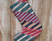 xmass stocking from ties. -use for quilts too.