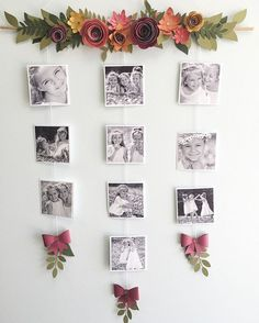Beautiful photo display. Flowers & leaves created with the CTMH Cricut Cartidges