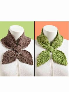 Crochet - Accessory Patterns - Neck Warmers & Cowls - Easy Lotus Scarves