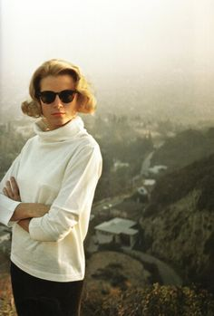 Grace Kelly. Hollywood Hills portrait by Howell Conant, 1955.