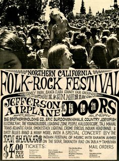 Northern California Folk-Rock Festival - on the day I was born (May Tour Posters, Band Posters, Music Posters, Theatre Posters, Event Posters, Vintage Concert Posters, Retro Posters, Vintage Posters, Illustration Photo