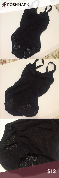 Bali Sexy Full Lace Bodysuit Shapewear Bra Rave In great, pre-owned condition. Bra size 36D, but will fit various sizes due to stretchy nature of the lace. Bodysuit one piece, closes at the bottom with 3 clasp hooks. Adjustable straps. While it is a lingerie piece, can be dressed up for festival and rave wear. BALI Intimates & Sleepwear Shapewear