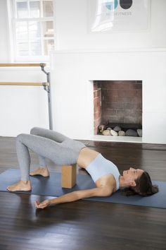 supported bridge --   6 Easy Yoga Moves for Relieving Stress