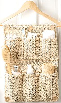 DIY-Crochet-Bathroom-Door-Organizer