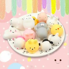Fast Deliver Cute Animal Squeezing Squeaking 25 New Exotic Creative Decompression Venting Toys Kawaii Animal Set Anti-stress Children Fun T Novelty & Gag Toys