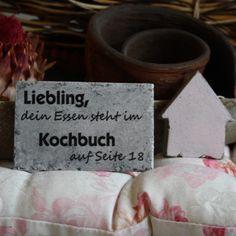 Shabby Chic Magnetholzschild - Liebling...