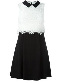 ALICE+OLIVIA   lace top mini dress