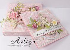 z rąk wyjęte...: PIERWSZA KOMUNIA ŚWIĘTA:) w kolorze różowym Baby Baptism, Christening, Confirmation Cards, First Holy Communion, Flower Crafts, Quilling, Holi, Decorative Boxes, Diy Crafts