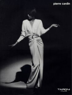 Pierre Cardin 1985 Fashion Photography Evening Gown