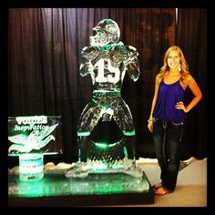 Tim  Tebow ice sculpture at CSUB Bakersfield Cali Hospice Gala (June 19, 2012)