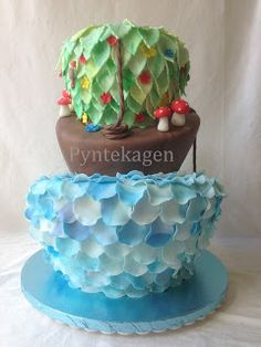 Topsy Turvy Cake for a girl who loves the Nature :)