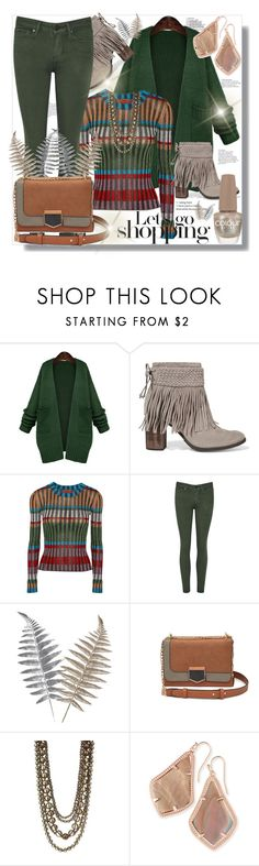 """""""Let's Go Shopping"""" by helenaymangual ❤ liked on Polyvore featuring WithChic, Schutz, Missoni, Kenneth Jay Lane and Kendra Scott"""